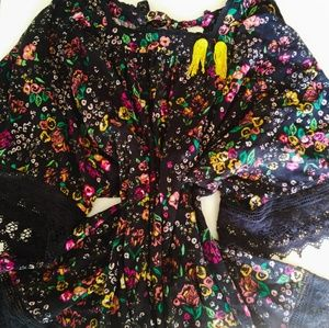 NWOT Free People Floral Tunic